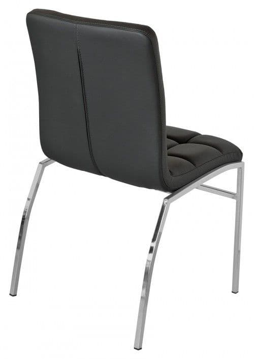 Cocomala Cheap Black Faux Leather Dining Chairs